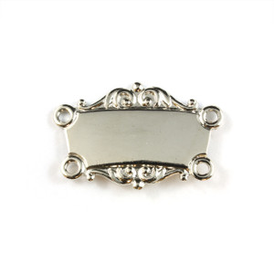 Silver Collar Bar - Scrolled