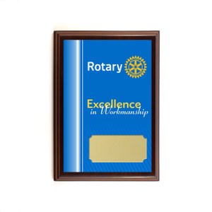 Rotary Excellence in Workmanship Plaque
