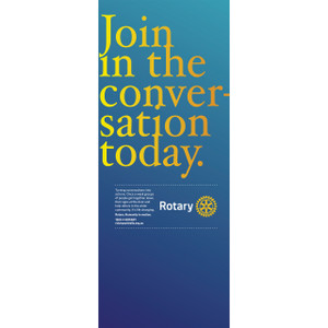 Rotary Join the Conversation Pull-up Banner