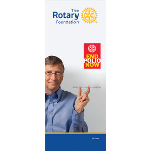 Rotary Foundation Bill Gates Pull-up Banner