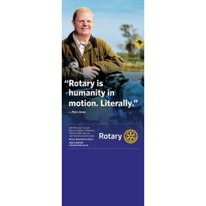 Rotary Peter Jones Pull-up Banner