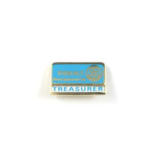 Interact Treasurer Lapel Pin