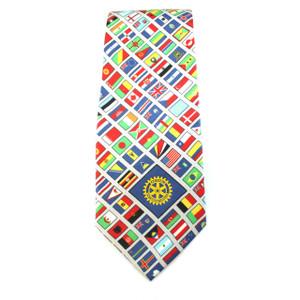 Rotary World Flag Tie