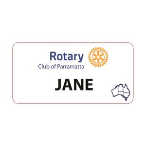 Rectangular Rotary Partner Dinner Badge