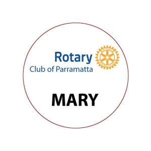 Round Rotary Partner Dinner Badge