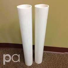 "Putterman PVC 24"" Ground Sleeves for 2-7/8"" Round Posts (Set)"