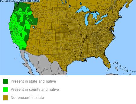 Narrowleaf Milkweed Range Map