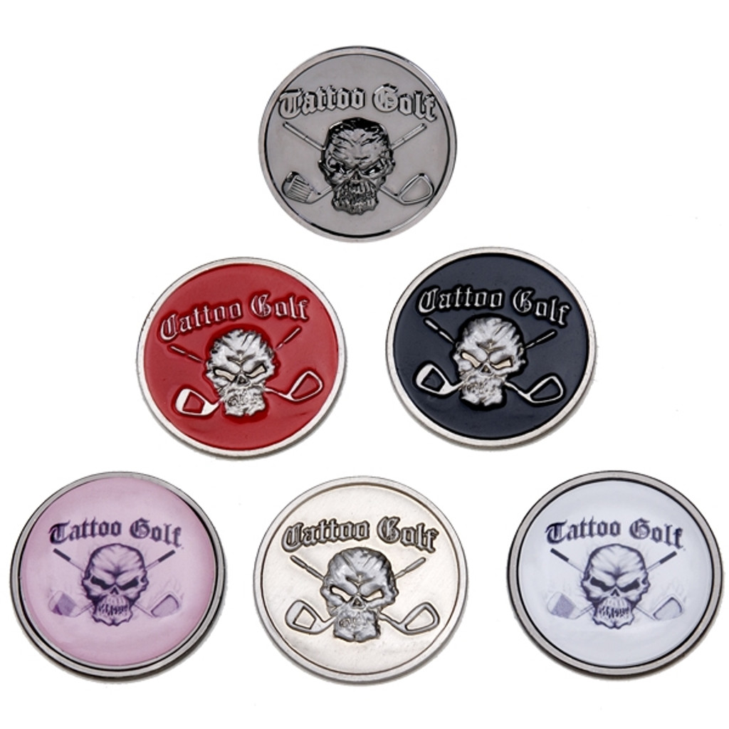 ball markers. These Golf Ball Markers Are Available In 5 Colors And Feature All Metal Construction. The M