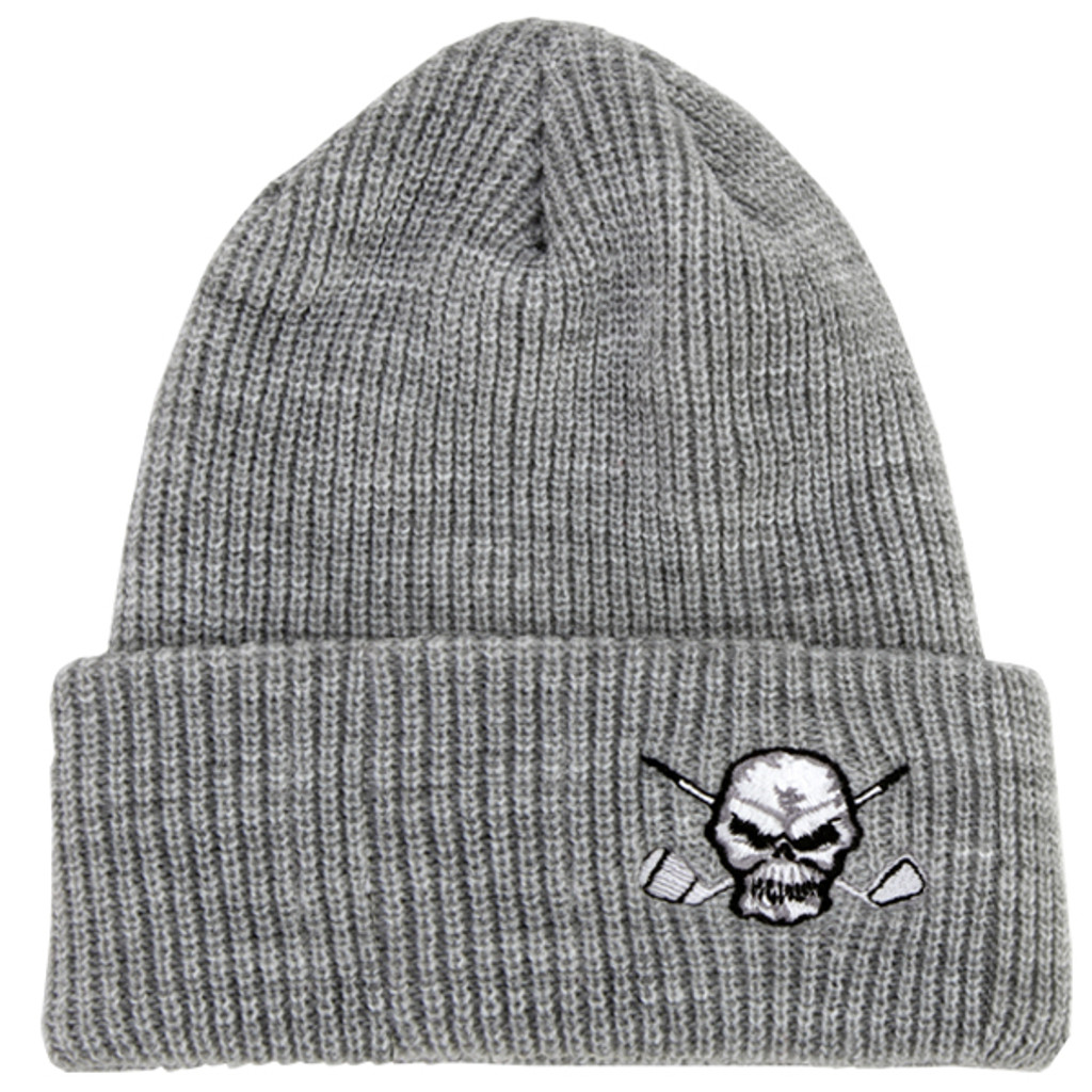 Super comfy and ultra stylish, this beanie will keep your melon warm on those chilly early morning rounds.  Also available in charcoal.