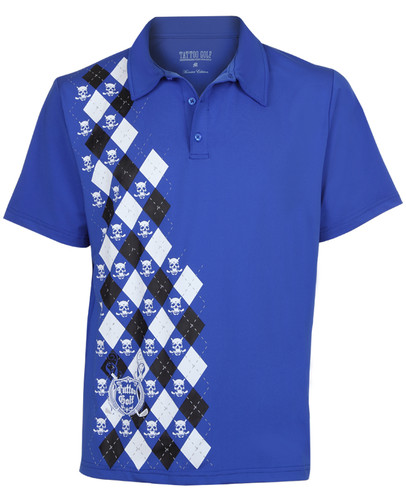 Monster Men's Golf Polo (Blue)