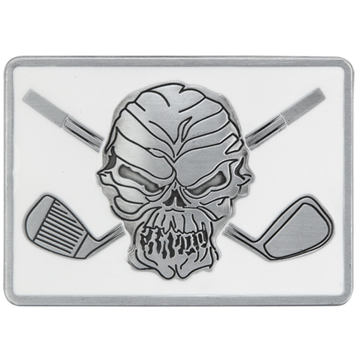 Tattoo Golf Belt Buckle - White Gloss