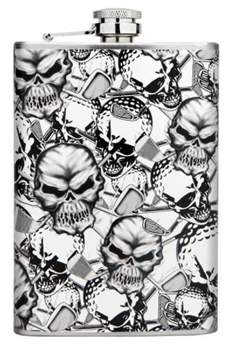 OB Skulls Flask