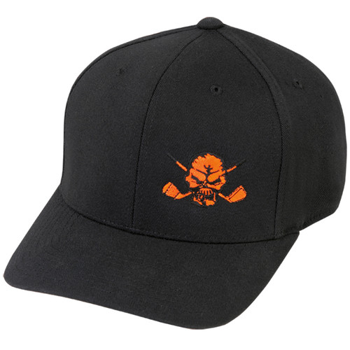 Lucky 13 Skull Hat (Black/Orange)