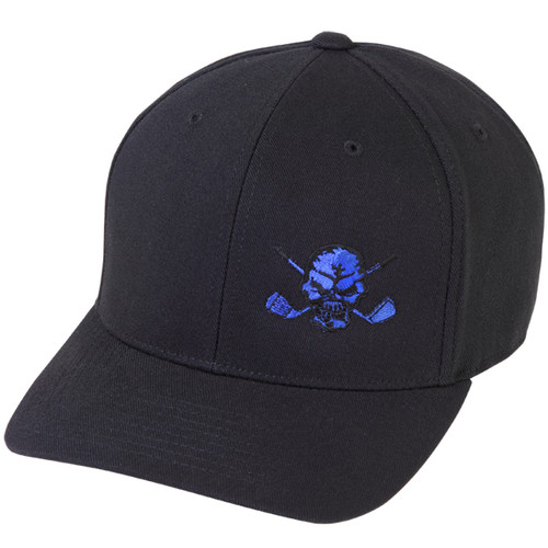 Lucky 13 Skull Hat (Black/Blue)