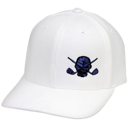 Lucky 13 Small Skull Hat (White/Blue)