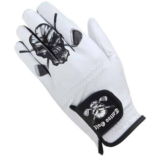 White Cabretta Leather Men's Golf Glove