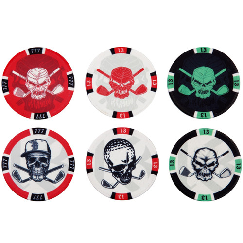 Tattoo Golf Poker Casino Chip Golf Ball Markers