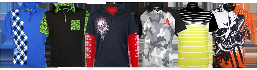 Men 39 S Golf Shirts Loud Crazy Cool Golf Shirts By Tattoo