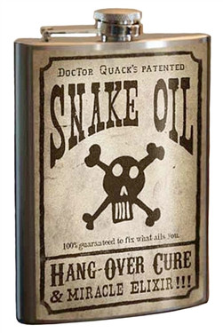 Snake Oil flask is slim enough to fit in your hip pocket, purse or golf bag.  The perfect father's day gift, graduation gift, birthday, anniversary, or just because gift!