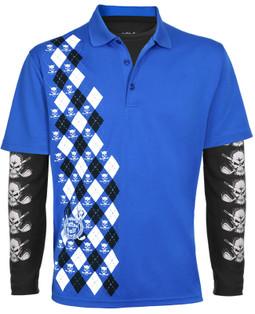 Blue Monster Men's Polo & Performance Under Shirt (Blue/Black)