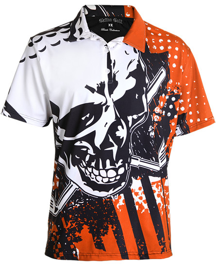 Blade performance men's golf shirt.  The sleek micro-mesh fabric offers superior moisture control.  Our craziest golf shirt ever!  Outfit your entire team in these badboys!