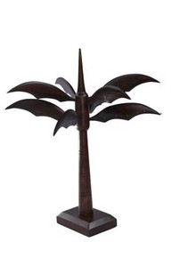 "15""  brown palm tree earring display"