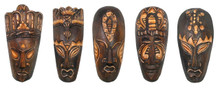"8"" African Style Tribal Mask -Set of 5 (A)"