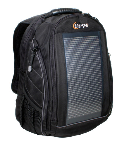 The Eclipse Solar Backpack, Black/Gray