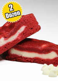 Red Velvet Cookie STUFT with Cheesecake– Two (2) Dozen