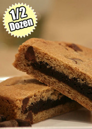 Chocolate Chip Cookie STUFT with Fudge Brownie – Half (1/2) Dozen