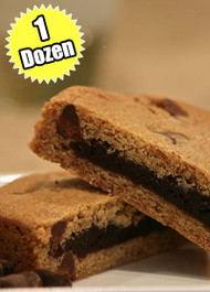 Chocolate Chip Cookie STUFT with Fudge Brownie – One (1) Dozen