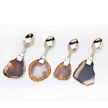 AGATE HANDLE S/4 DESSERT SPOON