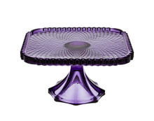 BELMONT 10 INCH AMETHYST SQUARE CAKE PLATE