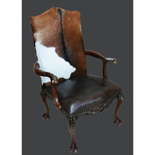 Chip Club Chair W/ Lthr & Hide Item #  11153803