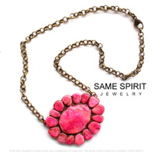 NECKLACE - ALAMO CHOKER (Blushing Canyon Pink)
