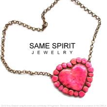 CHOKER - SUNSET HEART (Blushing Canyon Pink)