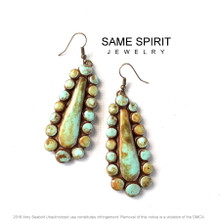 EARRINGS - LITTLE ELLIE (distressed turquoise)