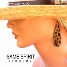 SALE - earrings LLANO (sunset cheetah)