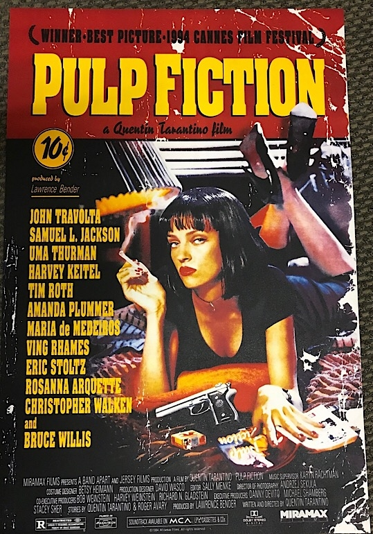 Pulp[ Fiction AFI Movie Poster Lithograph