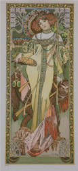 The Seasons Autumn 1899 Fine Art Poster Lithograph
