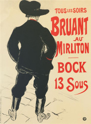 Bruant au Mirliton Fine Art Poster Lithograph