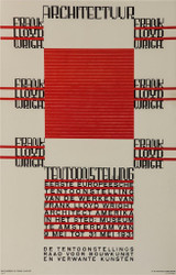 Architectuur Frank Lloyd Wright Tentoonstelling Poster Fine Art Lithograph