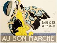 Au Bon Marche Poster Fine Art Lithograph
