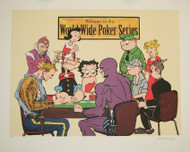 Comic Players World Wide Series Poker Fine Art Lithograph