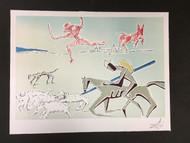 Don Quixote Warrior;s Heard Fine Art Lithograph