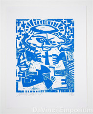Angel Signed Limited Edition Linocut Block Print