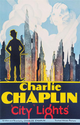 Charlie Chaplin City Lights 1931 Movie Poster Lithograph