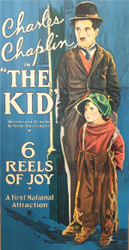 Charlie Chaplin in the Kid 1921 3 Sheet Movie Poster Lithograph