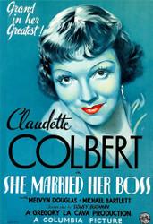 Claudette Colbert in She Married Her Boss