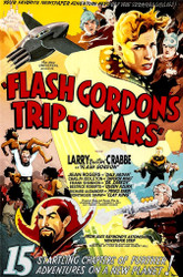 Flash Gordons Trip to Mars 1938 Movie Poster Lithograph